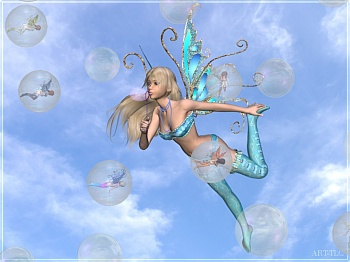Download Tiny Fairy Bubbles wallpaper